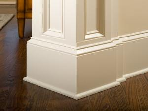 Baseboard and crown moulding